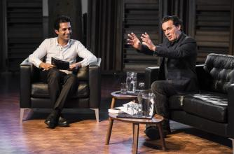 Joseph Boyden presents at a BILTC talk