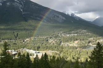 Rainbow over Banff Centre
