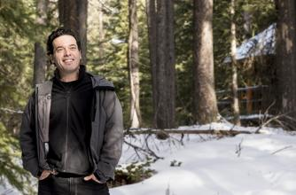 Joseph Boyden in The Banff Centre's Leighton Artists' Studios in 2013