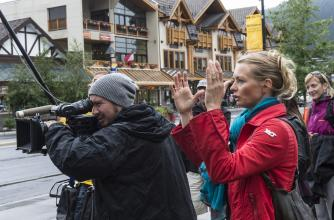 Film crews at The Banff Centre