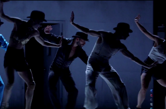 Dancers from Crystal Pite's company Kidd Pivot in a scene from Betroffenheit