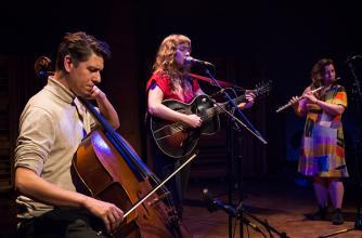 Justin Wright, Dana Sipos and Lina Andonovska at Banff Centre, 2019