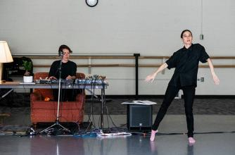 Vanessa Goodman during Performing Arts Creation Residency, 2019. Photo by Jessica Wittman.