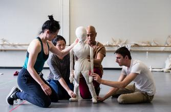 Banff Puppet Theatre Intensive participants, 2018. Photo by Rita Taylor.