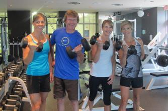 Sally Borden Fitness and Recreation Centre - Members in Weight Room