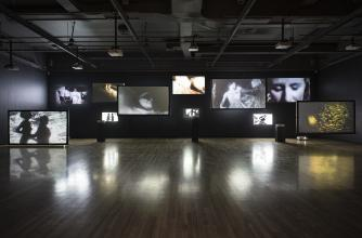 Guy Maddin, installation view of Hauntings I (2010). Photo by Rita Taylor