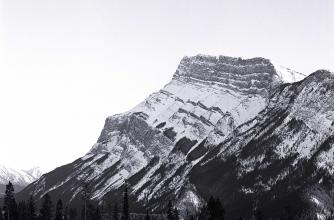 Picture of Mount Rundle in Banff by Roseanne Lynch. 2020. Silver gelatin print.