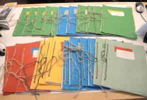 Handmade exhibition catalogues