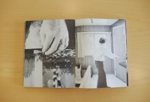 Two-page spread from Michael Snow's photo based book Cover to Cover