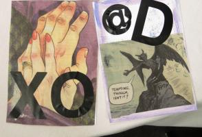 A tarot deck made by a workshop participant