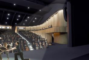 An edited rendering of artists performing in the new Belzberg Theatre in Banff.