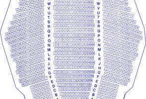 Eric Harvie Theatre Seating Plan