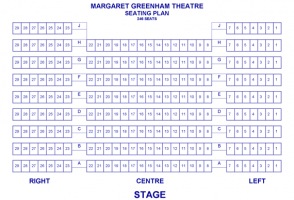 Margaret Greenham Theatre Seating Plan