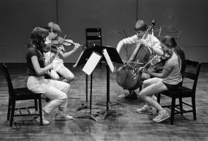Roman Borys on cello, 1984