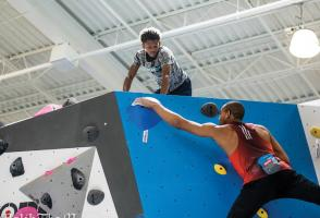 Kai Lightner at Memphis Rox Climbing + Community, Memphis, Tennessee