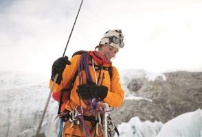 Hilaree Nelson on Lhotse. Photo by Nick Kalisz, The North Face