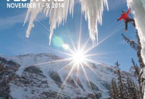 2014: Kennan Harvey. Will Gadd climbing Louise Falls, Banff National Park