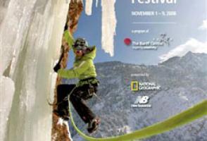 2008: Andrew Burr. Caroline George ascending Storm Mountain Falls