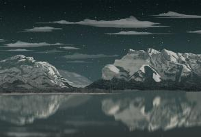 Moment Factory produced this edited picture of Banff National Park