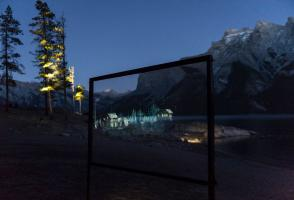 Illuminations display at Banff National Park