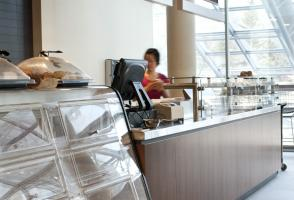 Le Cafe Order Counter - Inside Sally Borden Fitness and Recreation