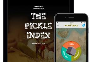Digital Narratives - screenshot of app based novel The Pickle Index