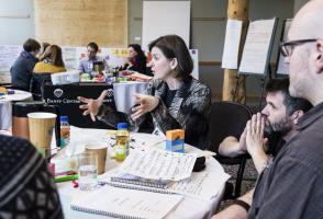 Participants generate ideas to inform a customized community-focused leadership program.