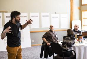 Julian Norris facilitates during the Community of Foundations of Canada Design Studio.