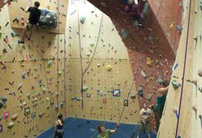 rock climbing, indoor climbing gym, arch