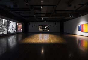 """Andrea Büttner, installation view of """"Piano Destructions"""", 2014. Courtesy the artist and Walter Phillips Gallery, Banff Centre for Arts and Creativity. Photo Rita Taylor"""
