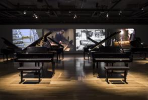 """Andrea Büttner, performance view of """"Piano Destructions"""" (2014). Courtesy the artist and Walter Phillips Gallery, Banff Centre for Arts and Creativity. Photo Rita Taylor"""