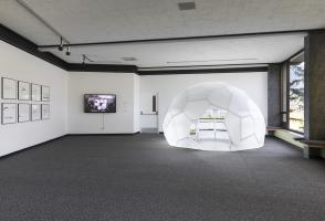"Installation view, ""Improvise Everything"" (2016). Banff Centre for Arts and Creativity. Photo Katherine Whitt"