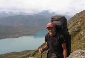 J.R. Harris trekking