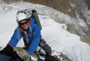 Mick Fowler climbing on Sersank, India, 2016