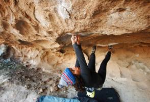 Image of Bethany Lebewitz climbing