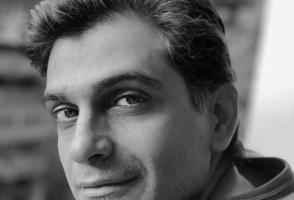 Author Anosh Irani looks over his shoulder.